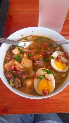Sop Ubi Snap Food, I Foods, Nom Nom, Food And Drink, Makassar, Lunch, Chicken, Meat, Ethnic Recipes