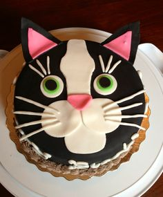 Cat birthday cake, looks like Majix :)