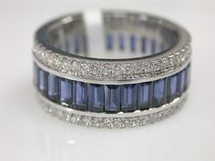 Love this sapphire and diamond band. Not that my wedding band isn't great, but maybe this can be an anniversary band? :)