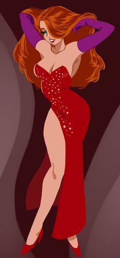 Jessica Rabbit. Not Disney but she is a cartoon, and she's hot...so DEAL WITH IT!!