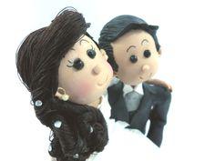 Topo de Bolo de Noivos Fofinhos. wedding / biscuit / bride