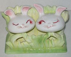 Vintage Bunny Salt & Pepper Shakers –Holt Howard