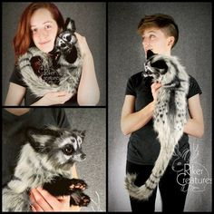 Cuddly Civet - Poseable Fantasy Creature by RikerCreatures on DeviantArt