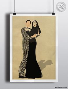 Addams Family Minimalist Poster by Posteritty Minimal Art Design
