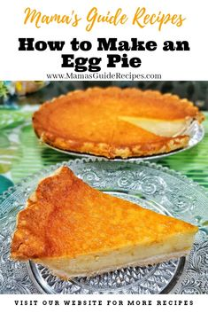 How to make an Egg pie New Year's Desserts, Filipino Desserts, Asian Desserts, Filipino Recipes, Pinoy Dessert, Filipino Dishes, Cuban Recipes, Baking Desserts, Egg Pie Recipe Filipino