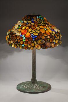 Elegant Tiffany-Style Lamp with REAL Seashell Lamp Shade | Beach ...