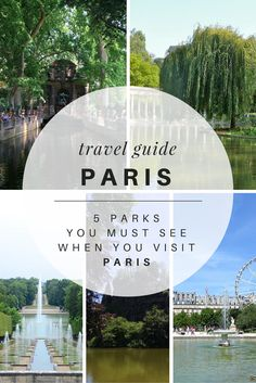 Many of the most beautiful parks in the world are lucky to call Paris home. If you're planning a trip to Paris and want a little inspiration, here is a list of parks around Paris for you to decide where you would like to spend your time moseying along.
