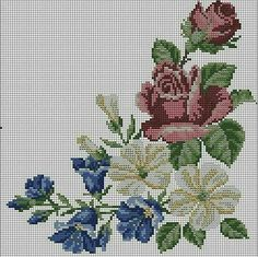 This Pin was discovered by Ayş Cross Stitch Books, Cross Stitch Rose, Cross Stitch Flowers, Cross Stitch Charts, Cross Stitch Designs, Cross Stitch Patterns, Cross Stitching, Cross Stitch Embroidery, Hand Embroidery
