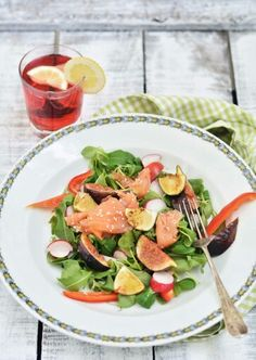 Salad salmone and fig