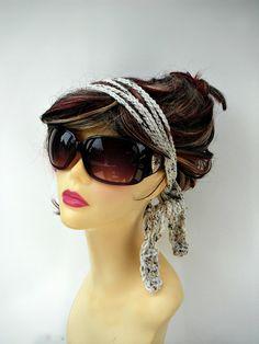Crochet Headband Chain Headband Crochet Hair Tie Hippie Headband Summer Hair Accessories Womens HairBand Trellis Headband Girls Accessories