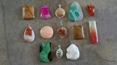 Check out this item in my Etsy shop https://www.etsy.com/listing/504861290/bulk-gemstone-pendants-13-pendants-loose