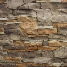 GO-Stone Panels -Manufactured Stone Veneer - Go-Stone Panels - Cherokee Flats / varies / Flat / 5 Square Feet Faux Stone Walls, Stone Accent Walls, Stone Veneer Panels, Brick Face, Manufactured Stone Veneer, Stone Cladding, Exposed Brick, The Help, Decoration