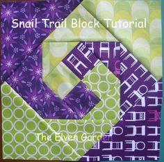 Elven Garden Quilts: Snail Trail Block Tutorial