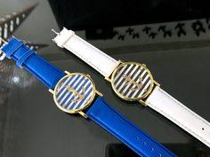 Királykék csíkos horgony különleges ékszer óra Dobd fel ruhatáradat egy trendi órával 🙂  Fém óratok, quartz szerkezet  Szíj hossza kb. 22cm, szélessége kb 2cm  Az esetleges Kronográf mutatók csak díszítő elemek Skeleton, Watches, Accessories, Fashion, Moda, Wristwatches, Fashion Styles, Skeletons, Clocks