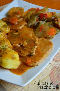 Kliknij i przeczytaj ten artykuł! Pork Recipes, Lunch Recipes, Dinner Recipes, Cooking Recipes, Healthy Recipes, Pork Chop Sauce, Polish Recipes, Polish Food, I Foods