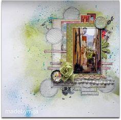 madebymija: Vicolo Stretto. Mist and newspaper circles