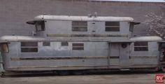 1953 Spartan Manor custom double-decker trailer.