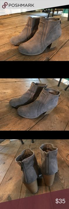 Taupe booties Barely ever worn so they are still in perfect condition. WILL ACCEPT MOST OFFERS Asos Shoes Ankle Boots & Booties
