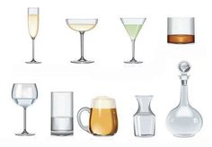 Exercise on drinking glasses