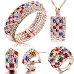 """Mondaynoon Valentine's Day Swarovski Elements """"Luxurious Queen"""" Jewelry Set, Australia Import Crystal Necklace, Bracelets, Earrings and Ring Ensemble (Multicolor) Jewelry Sets, Jewelry Accessories, Women Jewelry, Fashion Accessories, Luxury Gifts For Women, Crystal Necklace, Pendant Necklace, Swarovski Jewelry, Ring Earrings"""