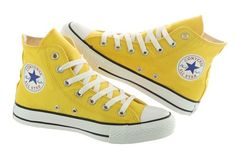 Converse Chuck Taylor All Star Hi 102973F Yellow Casual Canvas Shoes Women | eBay