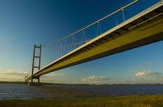 The Humber Bridge , near Kingston upon Hull, England, is a 2,220 m (7,283 ft) single-span suspe