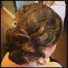 Wedding Hair: www.krystieann.com  Bridal hair, curls, updo, bridesmaid hair, textured updo