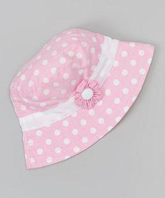 Another great find on #zulily! Cotton Candy Polka Dot Stella Sunhat #zulilyfinds