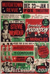 Multi-Act R&B/Soul/Rock Concert Posters of the 1960s
