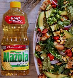 #ad #HeartHealthyMazola I made this fresh veggie salad using Mazola Corn Oil since it's an all-purpose cooking oil that is heart-healthy* for me and my family. It's versatile and could be used for baking, grilling, sautéing, stir frying, mixing up a dressing. I used the oil to make a dressing for my salad, and as a coat on my homemade croutons. Instead of brushing my veggies with butter before grilling, I made a simple swap and brushed with Mazola Corn Oil instead for a reduced cholesterol meal.