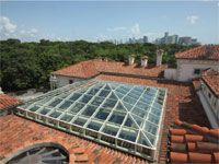 Skylight construction at Vizcaya