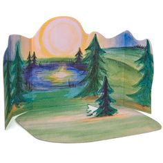 Ostheimer Forest Set with Diorama - inspiration for Nature Table backdrop
