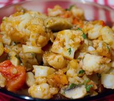 Vegan Lifestyle, Cauliflower, Shrimp, Yummy Food, Meat, Vegetables, Recipes, Kitchen Ideas, Canning