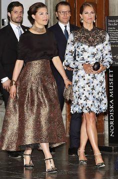 Prince Carl, Princess Victoria, Prince Daniel, her husband and her sister, Princess Madeleine of Sweden