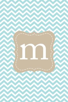 {Freebie Lock Screen Images for iPhone & older/iPod Touch Gen & older } Pick a color and a letter! Chevron Phone Wallpapers, Backgrounds Wallpapers, Iphone Wallpapers, Phone Backgrounds, Locked Wallpaper, I Wallpaper, Monogram Wallpaper, M Monogram, Comics