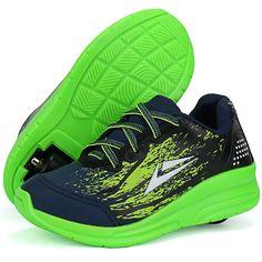 e5bad78eaa7 Tênis de Rodinha Infantil SapatoFran Lançamento Original Azul Verde