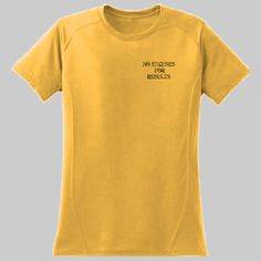 No Excuses For Results Dry Zone Shirt Free shipping in the U.S. Satisfaction Guaranteed! See our 30 day money back return policy.  With a full, athletic fit, this raglan lets you stretch and move while effectively managing moisture. Sweat is wicked away from the body, so you stay cooler and drier. Plus, this shirt fights odor so you can perform with confidence.  3.8-ounce, 100% polyester Tag-free label  Double-needle sleeves and hem Set-in sleeves with raglan accent