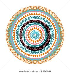 Mandala. Abstract ethnic round vector ornament.