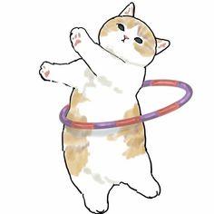 I Love Cats, Crazy Cats, Cute Cats, Vive Le Sport, Cat Drawing, Kawaii Art, Cute Illustration, Animal Drawings, Cat Art