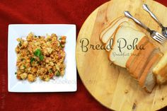 Bread Poha Recipe with Curd - Breakfast Snack - inHouseRecipes Poha Recipe, Curd Recipe, Tea Time Snacks, Breakfast Snacks, Bread Ingredients, Snack Video, Vegetarian Chili, Tasty, Yummy Food