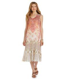 b3f2207b4d1 Reba Sublimation Lace-Print Dress  Reba  RebaStyle  Dillards Bell Sleeve  Dress