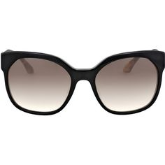 Prada Catwalk Voice Black/grey Gradient Sunglasses PR 10RSF-1AB0A7-57 (€160) ❤ liked on Polyvore featuring accessories, eyewear and sunglasses