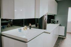 #whiteinterior #mdf #himacs #kitchendesign #saramobdesign