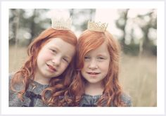 Twin gingers! I'm just trying to imagine two of my nieces running around...the world would be a much better place!
