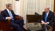 US Secretary of State John Kerry meets with Prime Minister Benjamin Netanyahu in Jerusalem on April John Kerry, Benjamin Netanyahu, Secretary, Meet, Prime Minister, Jerusalem, Peace, Sobriety, World