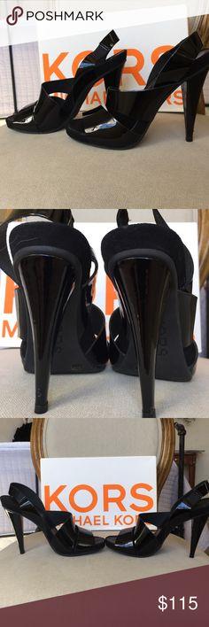 """Michael Kors black patent """"wicked"""" heels Beautiful black patent Michael Kors heels. Heels are 5 inches. In excellent condition! KORS Michael Kors Shoes Heels"""