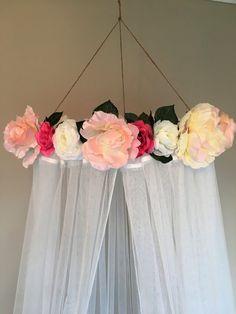 Cuna dosel cama con dosel pabellón floral pabellón de