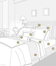 Disposer les coussins sur le lit