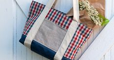DIY Farmers Market Tote Bag Sewing Tutorial instruction