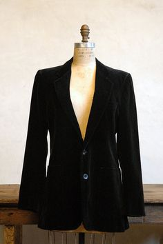Vintage YSL black velvet blazer